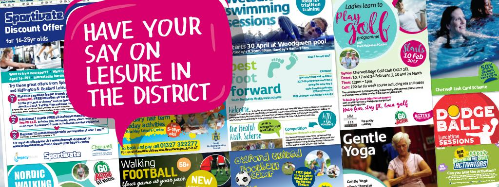 What does leisure in the district mean to you?